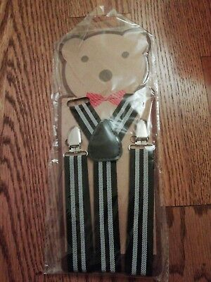 Kids Suspenders. Blue and white stripes