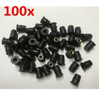 100x M5 Rubber Well Nut Motorcycle Windshield Seal Fastener for Ducati BMW Honda