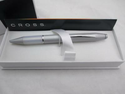 Cross Easy Writer Satin Chrome Silver Ballpoint Pen w/ Comfort Grip - AT0692-3