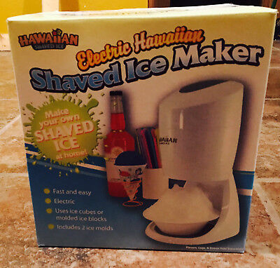 Hawaiian Electric Shaved Ice Machine Snow Cone Slush Maker Shaving Cold Drink