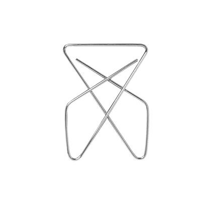 Officemate Butterfly Small Number 2 Paper Clip, 1-1/2 Inches, Metal, Pack of 50