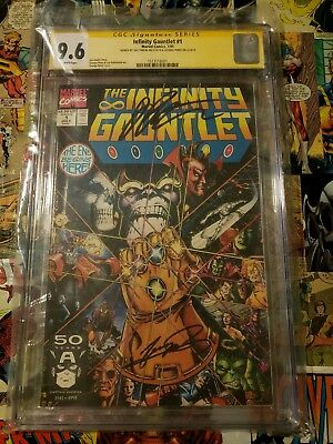 The Infinity Gauntlet #1-6 (Jul 1991, Marvel) CGC all autographed