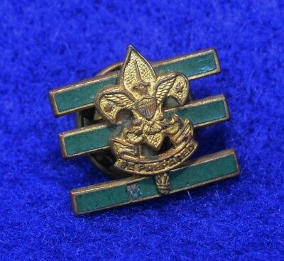Vintage Junior Assistant Scoutmaster Position Badge  Be Prepared Boy Scout Pin