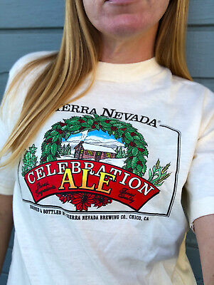 Vintage Sierra Nevada Celebration Ale Single Stitch Size M Brewery Holiday