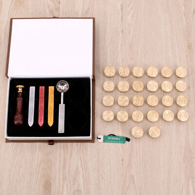 Classic Retro Initial Alphabet Wax Seal Stamp Kit Sealing Wax Letters Invitation