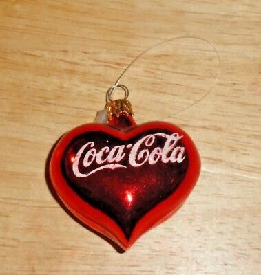 2 Inch Coca-Cola Heart Christmas Ornament