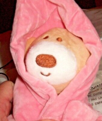 GREAT CHRISTMAS PRESENT baby bear with blankie (embroidered features) NEW