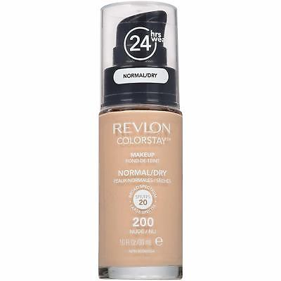 Revlon Color Stay Makeup Foundation Normal Dry Skin 30 ml Nude Full Coverage