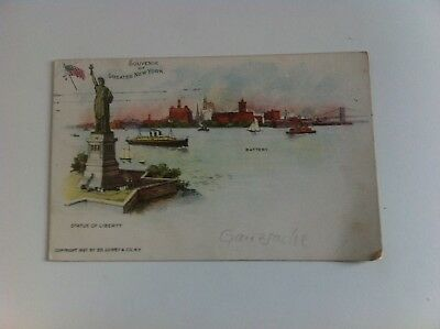 Souvenir of Greater New York - Statue Of Liberty - GANZSACHE USA  -04425