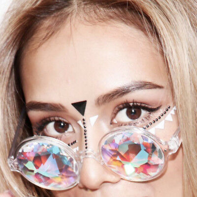 Creative Kaleidoscope Electronic Concert Glass Edge Mosaic Glasses Magical Style