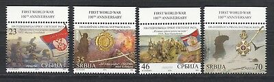 Serbia Serbien 2014  MNH** 593-96 First World War 100th Anniversary