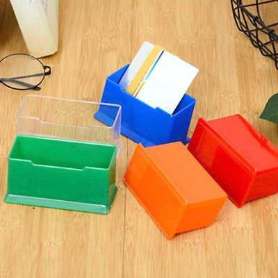 5 Color Office Desktop Business Card Box Holder Stand Display Tools Plastic Chic
