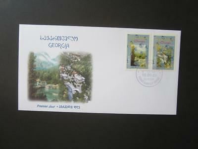 CEPT Georgia 2001 Mi 376-377 FDC Water