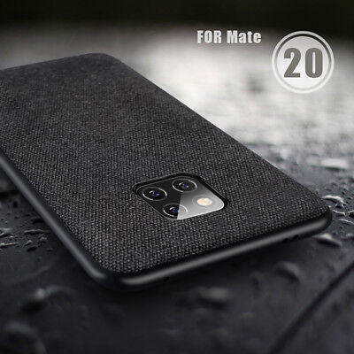 For Huawei Mate 20 Pro Lite Luxury Shockproof Soft TPU Fabric Case Back Covers
