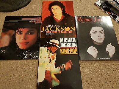 Michael Jackson Bundle Of Books 1990s Visual Documentary Facts From...