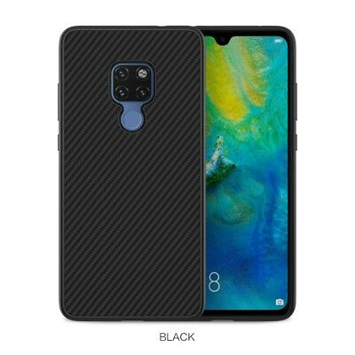 NILLKIN Synthetic Fiber Hard Plastic Case Cover for Huawei Mate 20 - Black