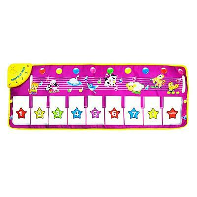 MILEMEI Musical Mat, Baby Early Education Animal Blanket Dance Mat Kids Piano