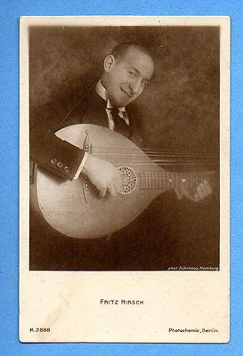 Fritz Hirsch Plays Musical Instrument # K.2888 Vintage Photo Pc. Pub.germany 358