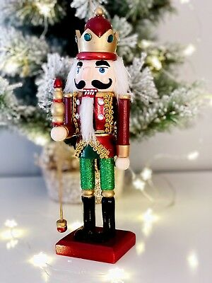 Vintage Style Red Nutcracker Soldier Doll  Wooden Tradition Christmas Decoration