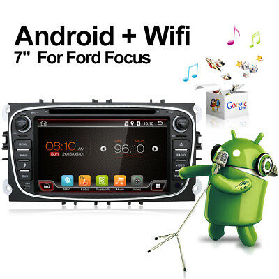 Android 7.1 Ford Focus Mondeo C S-Max Galaxy 2 DIN DVD Player GPS Stereo Radio