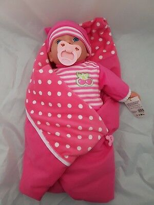 Doll Baby With Blanket & Dummy 16 Inch - Makes 16 Sounds Realistic Baby Noises