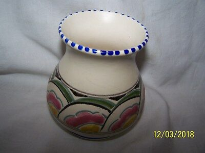 Honiton Eastern Scroll pattern Vase ~9cms