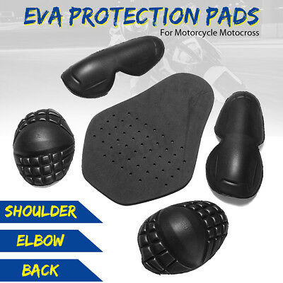 5X Motorcycle Riding Shoulder Elbow Knee Back Pad Impact Inner Protection Armor