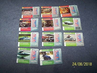 20 007 Spy Files Vehicles and Locations Trading Cards