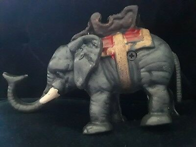 Cast Iron Elephant Trunk Up Still Bank