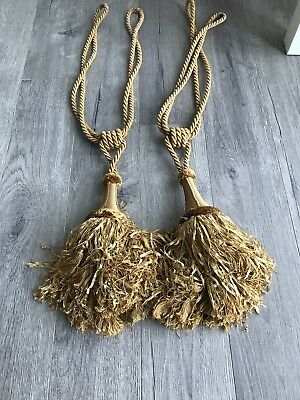 Large Chunky Gold Tassel / Tassle Tie Back  curtain home decor