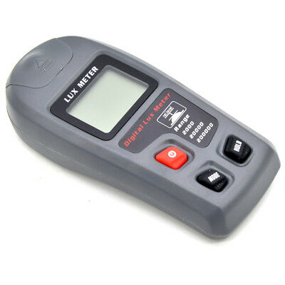 LCD Light Meter Handheld Digital Illuminometer Lumen Tester Range 0.01~20,000Fc