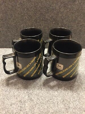 4  vintage Nothing Runs Like A Deere Insulated West Bend Thermo Serv Cup Mug