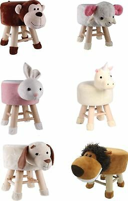 Novelty Animal Shaped Foot Stool Round Home Furniture Bedroom Play Room