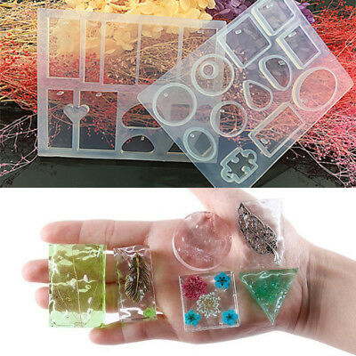 40E3 Resin Casting Mold Jewelry Pendant Mould LH Necklace Crystal DIY