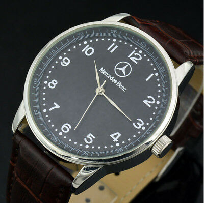 Mercedes-Benz²  Men's Watch Stainless Steel Brown Leather Stra
