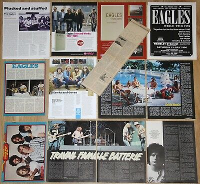 THE EAGLES clippings 1970s/00s magazine articles photos cuttings pop music