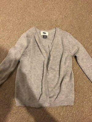 Old Navy Girls 5T Gray Cardigan Button Up Sweater