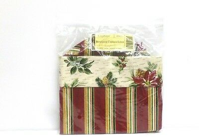 LONGABERGER WINE BEVERAGE tote LINER  WITH DRAWSTRING HOLIDAY BOTANICAL NEW