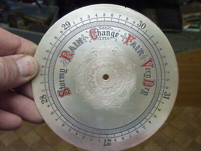 Good Old-Antique ? Aneroid Barometer Silvered-Engraved Dial (A)