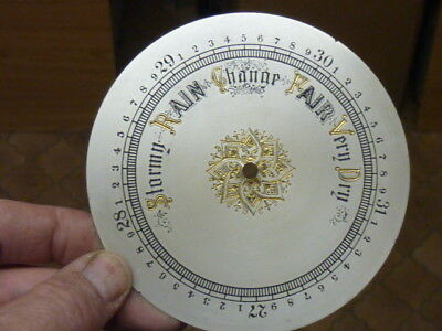 Good Old-Antique ? Aneroid Barometer Silvered-Engraved Dial (C)