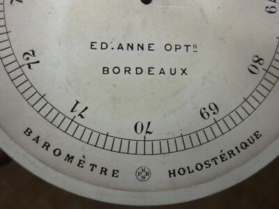 Good Old-Antique ? French Aneroid Barometer Silvered-Engraved Dial (D)