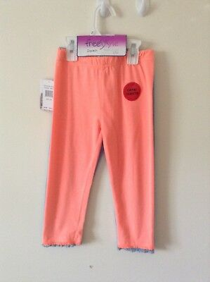 NWT Sz: 6X , Girl's 2Pack Cotton Stretched Capri-Leggings by Free Style $22.