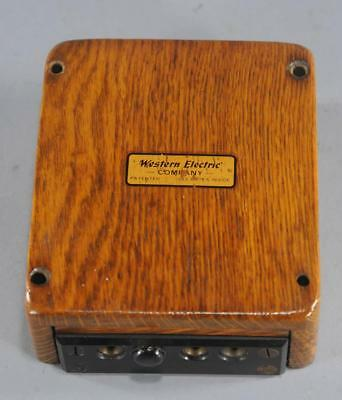 Antique Western Electric 345A Oak Wall Patch Cord Box
