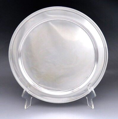 Vintage c1960 Tiffany & Co Sterling Silver Round Tray/Platter/Charger/Plate 12""