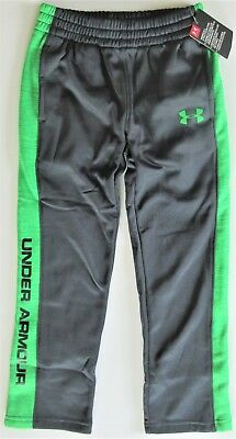 Under Armour Boys' Stealth Gray Green FLEECE LINED Warm-Up Sweat Pants Y7 NWT