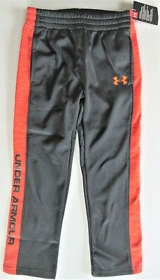 Under Armour Boys' Stealth Gray Volano FLEECE LINED Warm-Up Sweat Pants Y7 NWT