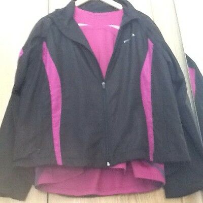 Damen Trainingsjacke mit Shirt, Gr. 44/46