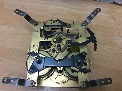 Small Vintage Clock Parts, Movement For Spare Repair , Baller
