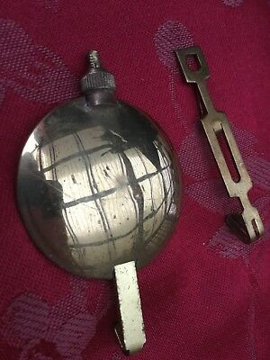 Pendulum And Leader   From  An Antique Mantel Clock 1/4 Striking Foreign P13cm