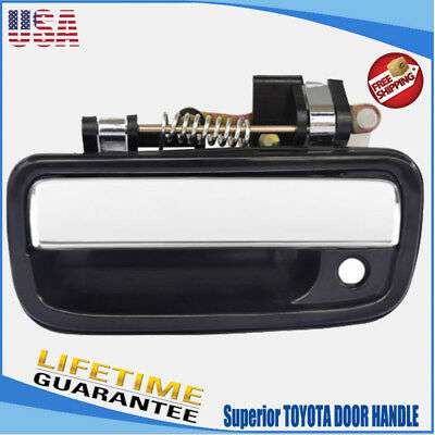 FRONT LEFT Outside Door Handle CHROME for 95-04 Toyota Tacoma Pickup Truck